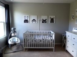 IKEA Sundvik Crib x Prints from Etsy
