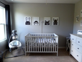 IKEA Sundvik Crib x Prints from Etsy